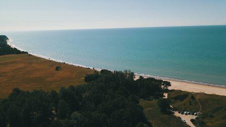 Aerial view of coastline Jurkalne Baltic sea Latvia Stock fotó - 129687589