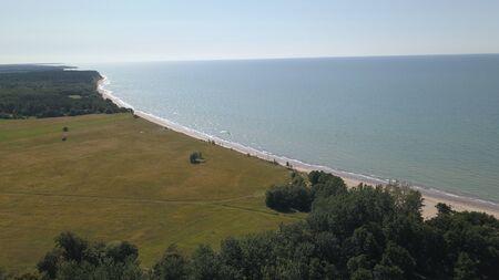 Aerial view of coastline Jurkalne Baltic sea Latvia Stock fotó - 129687616
