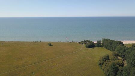 Aerial view of coastline Jurkalne Baltic sea Latvia Stock fotó - 129687617