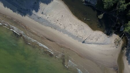 Aerial view of coastline Jurkalne Baltic sea Latvia Stock fotó - 129687624