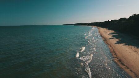 Aerial view of coastline Jurkalne Baltic sea Latvia Stock fotó - 129687438