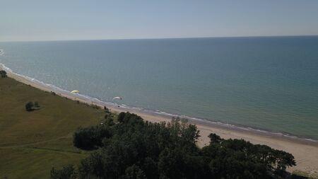 Aerial view of coastline Jurkalne Baltic sea Latvia Stock fotó - 129687440