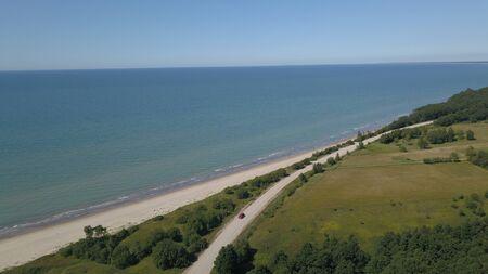 Aerial view of coastline Jurkalne Baltic sea Latvia Stock fotó - 129687441