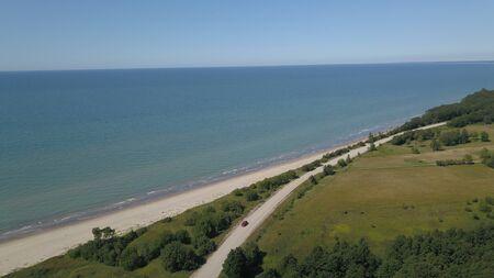 Aerial view of coastline Jurkalne Baltic sea Latvia Stock fotó - 129687444