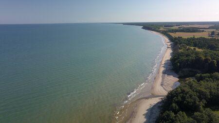Aerial view of coastline Jurkalne Baltic sea Latvia Stock fotó - 129687450