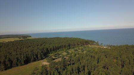 Aerial view of coastline Jurkalne Baltic sea Latvia Stock fotó - 129687449