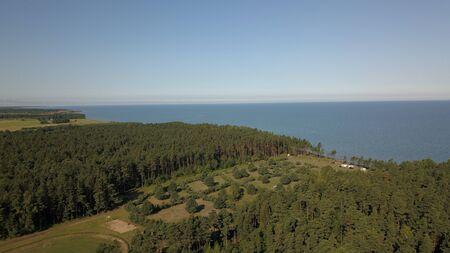 Aerial view of coastline Jurkalne Baltic sea Latvia Stock fotó - 129687454