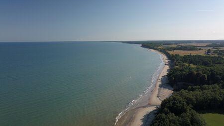 Aerial view of coastline Jurkalne Baltic sea Latvia Stock fotó - 129687453