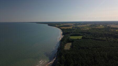 Aerial view of coastline Jurkalne Baltic sea Latvia Stock fotó - 129687455