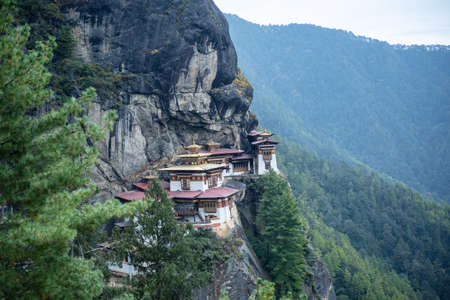 Tiger Nest Bhutan Monastery having beautiful background Zdjęcie Seryjne