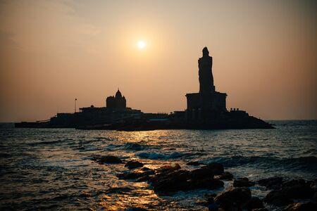 Sunrise above the sea Kanyakumari Comorin cape India