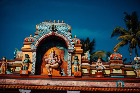 Durga Ancient Indian architecture at Temple in Kerala India Zdjęcie Seryjne