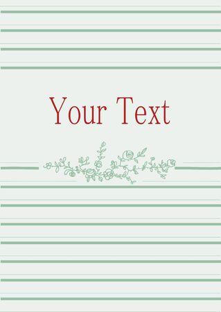 gentle: vintage gentle greeting card