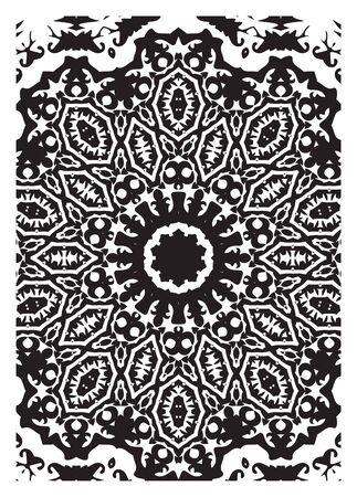 black and white: black and white pattern Illustration