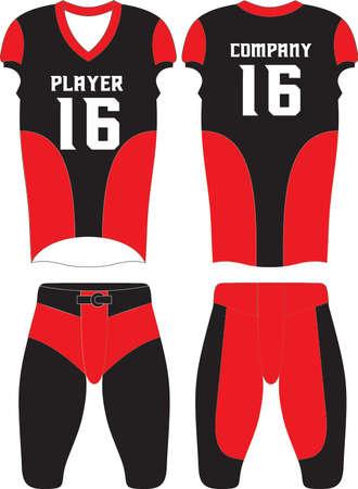 Custom Design American football uniforms Vector Ilustração Vetorial