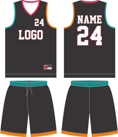 Basketball uniform mock up template design for basketball club Illustration vector