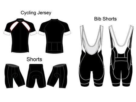 Bicycle Bib Shorts vector design Vecteurs