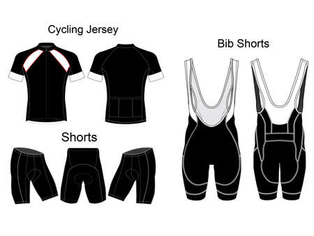 Bicycle Bib Shorts vector design Ilustração Vetorial