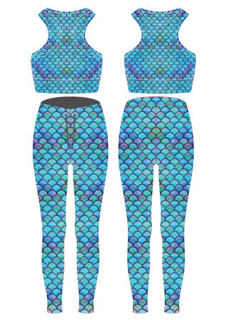 Custom Design Leggings template mock ups illustration vectors Ilustração