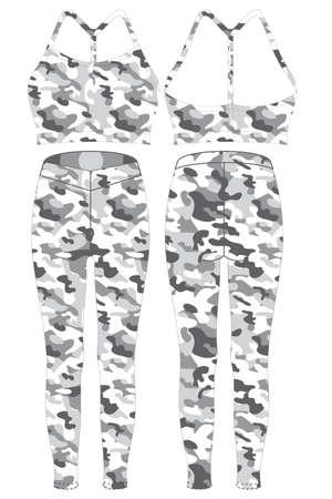 Custom Design Leggings templates mock ups illustration vector