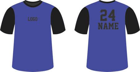 Custom Design Half sleeves t shirts round neck mock ups designs illustrations template vectors