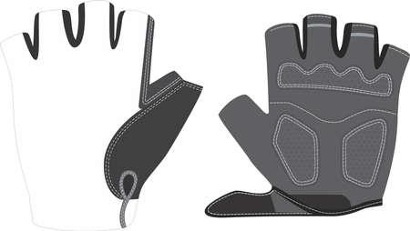 half finger cycling gloves mock ups vectors templates