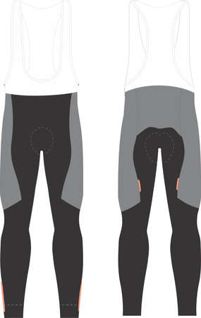 Race Bib Tights for men vectors Stock Illustratie