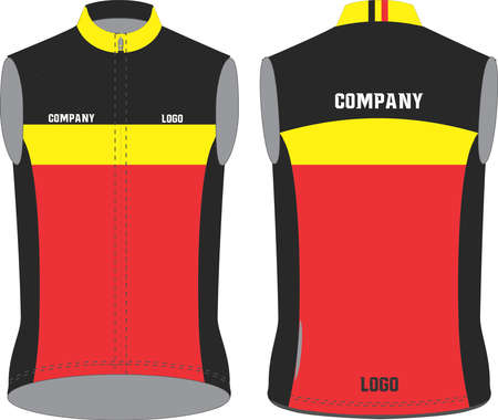 Men cycling vest illustration vectors Иллюстрация
