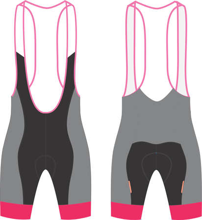 BIB SHORTS Mock ups Illustrations vectors
