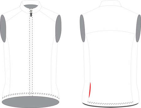 Cycling Windproof vest for Women  vectors illustrations Иллюстрация