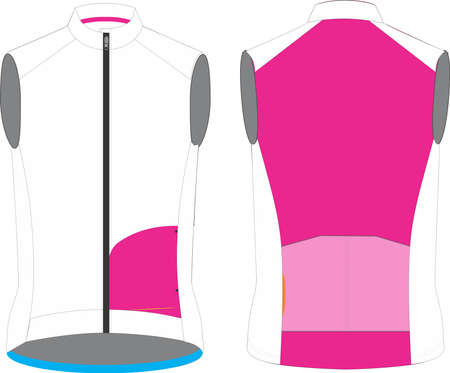 Cycling Windproof vest for men mock ups illustrations vectors