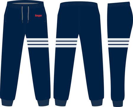 Sweat Pants Design Mock ups Template illustrations vectors
