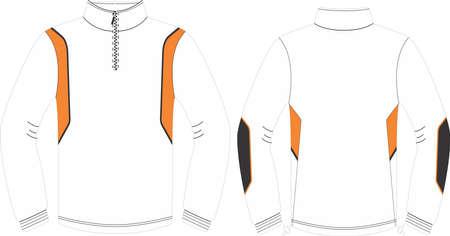 Running Wear zip top long sleeve illustration vectors Vettoriali