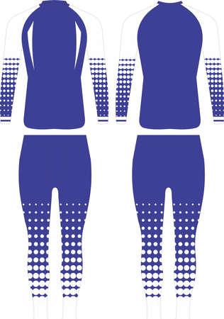 women leggings and shirts custom design illustrations mock ups Ilustração