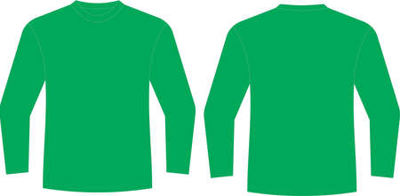 Custom Design Long Sleeve t shirt Mock ups illustrations