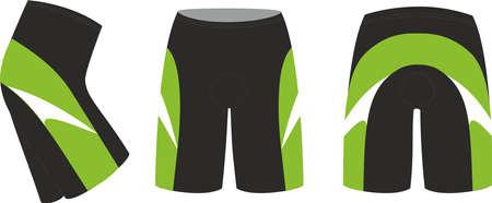 Sublimated Cycling Shorts vectors