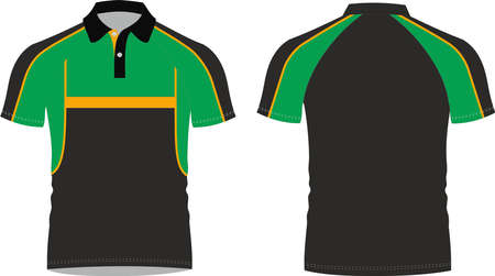 Polo Shirt Mock ups illustration templates custom design 免版税图像