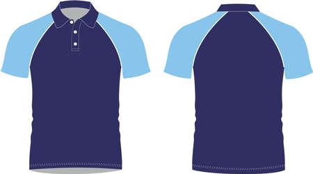 custom design Polo Shirt Mock ups illustrations template Vectors