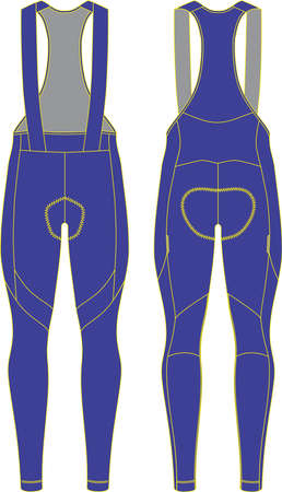Custom Winter Thermal Cycling Bib Tights for Men