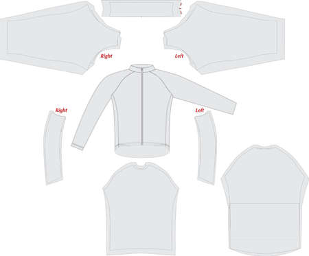long Sleeve Full Custom Sublimation Pattern Design Vectors