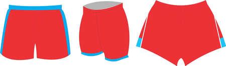 Training Shorts Playing Shorts  Mock ups templates illustrations