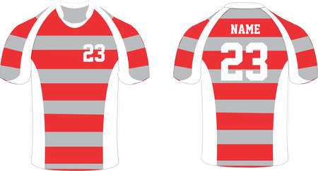 Rugby Shirt Mock ups templates illustrations