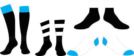 Long Socks Mid Socks Ankle Socks Mock ups templates illustrations