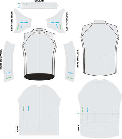 Peloton Sleeveless Jersey Mock ups and Pattern Artwork vectors
