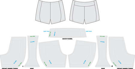Endurance Style Shorts Mock ups and Artwork Patterns illustrations