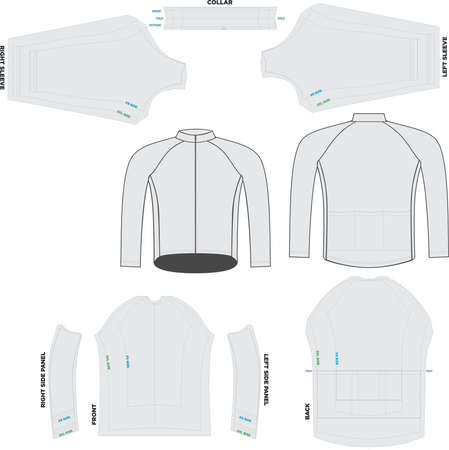 Peloton Long Sleeve Jersey mock ups and artwork pattern illustrations Banco de Imagens