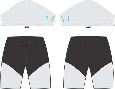 Mountain Shorts Mock ups and Artwork Patterns illustrations
