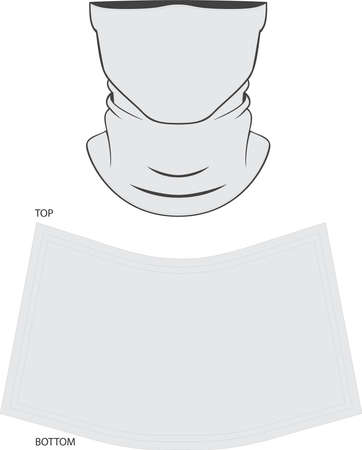 Neck Gaiter Mock ups and Artwork Patterns illustrations