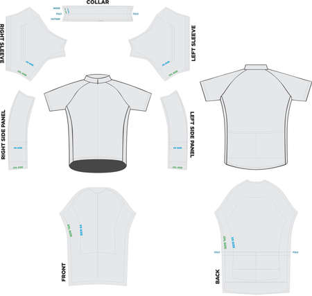 Youth Jersey Mock ups and Artwork Patterns vectors