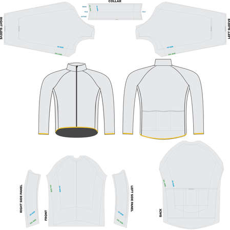 wind thermal jacket Mock ups and Artwork Patterns vectors